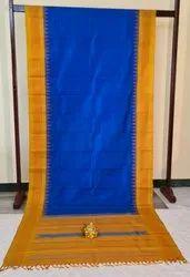 Royal Blue & Gold  Korvai Silk Saree
