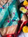 Light Blue Silk Saree