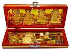Golden Brass Sri Dhan Laxmi -Kuber Bhandari Yantra Sampoorna Kripa (Gold)