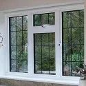 Clear Glass Upvc Lever Handle Casement Window, Glass Thickness: 6 Mm