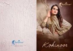 Border Pink Kohinoor Mansarover Branded Sarees, With Blouse Piece