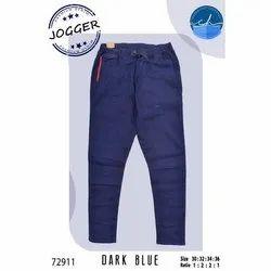 Mens Dark Blue Jogger Pants