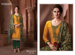 Nayaab Mustard Kurta With B.Green Bottom And Banarasi Dupatta