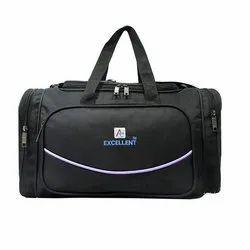 Black Polyester Travel Bag