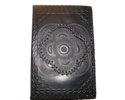Black Embossed Handmade Leather Journal