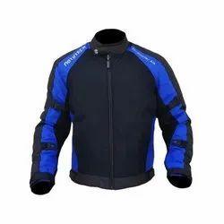 Heavy Duty Micro Mesh Men Black and Blue MOTOTECH Scrambler AIR Motorcycle Jacket