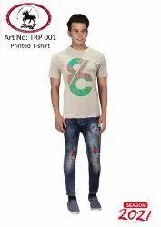Cotton Printed Men Plain T Shirt