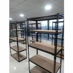 Mild Steel Powder Coated 5 ft Slotted Angle Rack, 100 Kg Per Layer