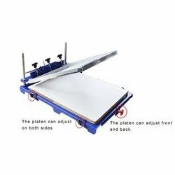Mild Steel Visiting Cards Flat Screen Printing Machine, Automation Grade: Semi Automatic