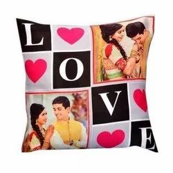 Couple Photo Printed Cushion