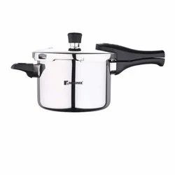 Silver Stainless Steel Bergner Argent Triply Pressure Cooker, For Home, Capacity: 5 L