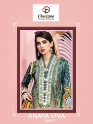 Cyra Semi-Stitched Jaam Cotton With Patch Embroidery Pakistani Suit, Dry clean