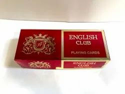 English Club Paper Playing Cards, Packaging Type: Box, Size: 89 X 57 Mm