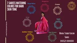 Dark Skin Tone Matching Colors Silk Sarees