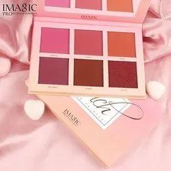 Imagic Touch 6 Colour Blush Palette, Pressed Powder, Packaging Size: 12.1 X 17.3 X 1.1 Cm