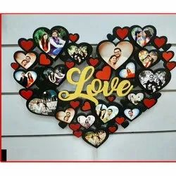 Wall Mount Heart Shaped Photo Frame