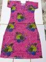 Full Length Printed Ladies Designer Cotton Nighty Xxl, Free Size