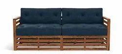Multicolor L Wooden Sofa Set, For Hotel, Size/Dimension: 2 Seater