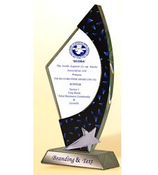 WG 7304 Delightful Crystal Glass Trophy