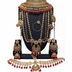 Alloy Metal Designer Wedding Necklace Set, Box
