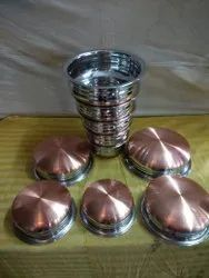 Round Copper Bottom Urli Steel, For Home, Size: 5 Size