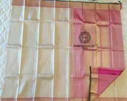 Cream&Pink Colors Silk Sarees