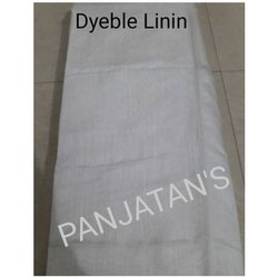 White Dyeable Linen Fabric, GSM: 70 gm