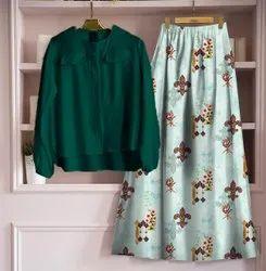 Red Richa Fashion World Top and Skirts