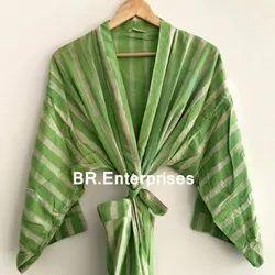 Multicolor Cotton Kimono, Size: Free