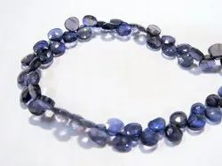 8 Strand Iolite Faceted Briolets Gemstone Beads Wholesale