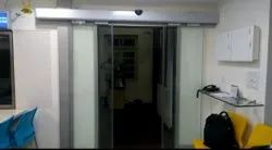 Automatic Sliding Glass Door, For Office