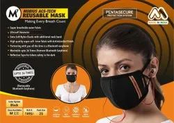 Reusable Face Mask Bluetooth Attached