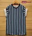 Vertical Striped Men's Half Sleeve T- Shirt