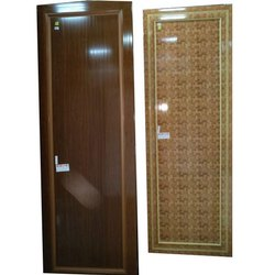 Hinged Glossy Decorative PVC Interior Door, For Home