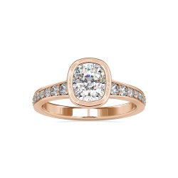 Elongated Cushion Cut Full White Moissanite White, Yellow, Rose Gold For Engagement