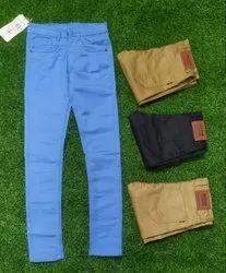 Cotton/Linen Flat Men Branded Trouser