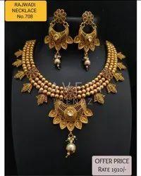 708 Rajwadi Antique Necklace Sets