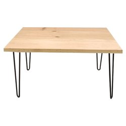 Eazy Fab Solid Pinewood Pinwood Center Table with Hairpin Legs