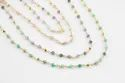 Sunstone and Gold Pyrite Gemstone Beaded Chain