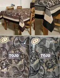 Velvet Rectangular Tojo Floral Printed Table Cover, Size: 60x90 Inch