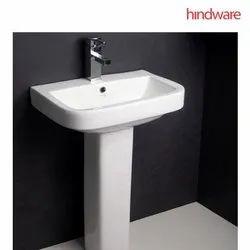 Ceramic Starwhite,Ivory Hindware Mini Neo Pedestal Wash Basin, For Bathroom, Model Name/Number: 10099