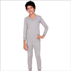 Unisex Gray Kids Thermal Inner Wear
