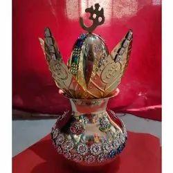 Silver Brass Mangal Kalash, For Worship