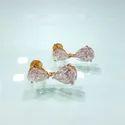 Pear Cut Moissanite Earrings, Stud Earrings in 14k White Gold, Moissanite Diamond Stud Earrings