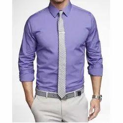 Plain Collar Neck Mens Cotton Formal Shirts, Handwash