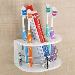Acrylic White Plantex Aero Paste & Brush Holder, For Bathroom, Size: 16 x 13 x 10 Cm