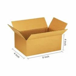 Primo Brown Cube Box, 3Ply, 8x4x4 inches, (Pack of 100 pcs)