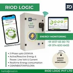 RIOD Three Energy Monitoring Industrial Upto 200kva - Smart Phone Application, Model Name/Number: E-R200, 440