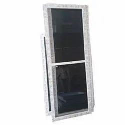 White Additional MESH UPVC Doors and Windows, Glass Thickness: 6mm Toughened Saint Gobain