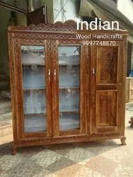 Brown Wooden Almirah with natural Polish, For Home